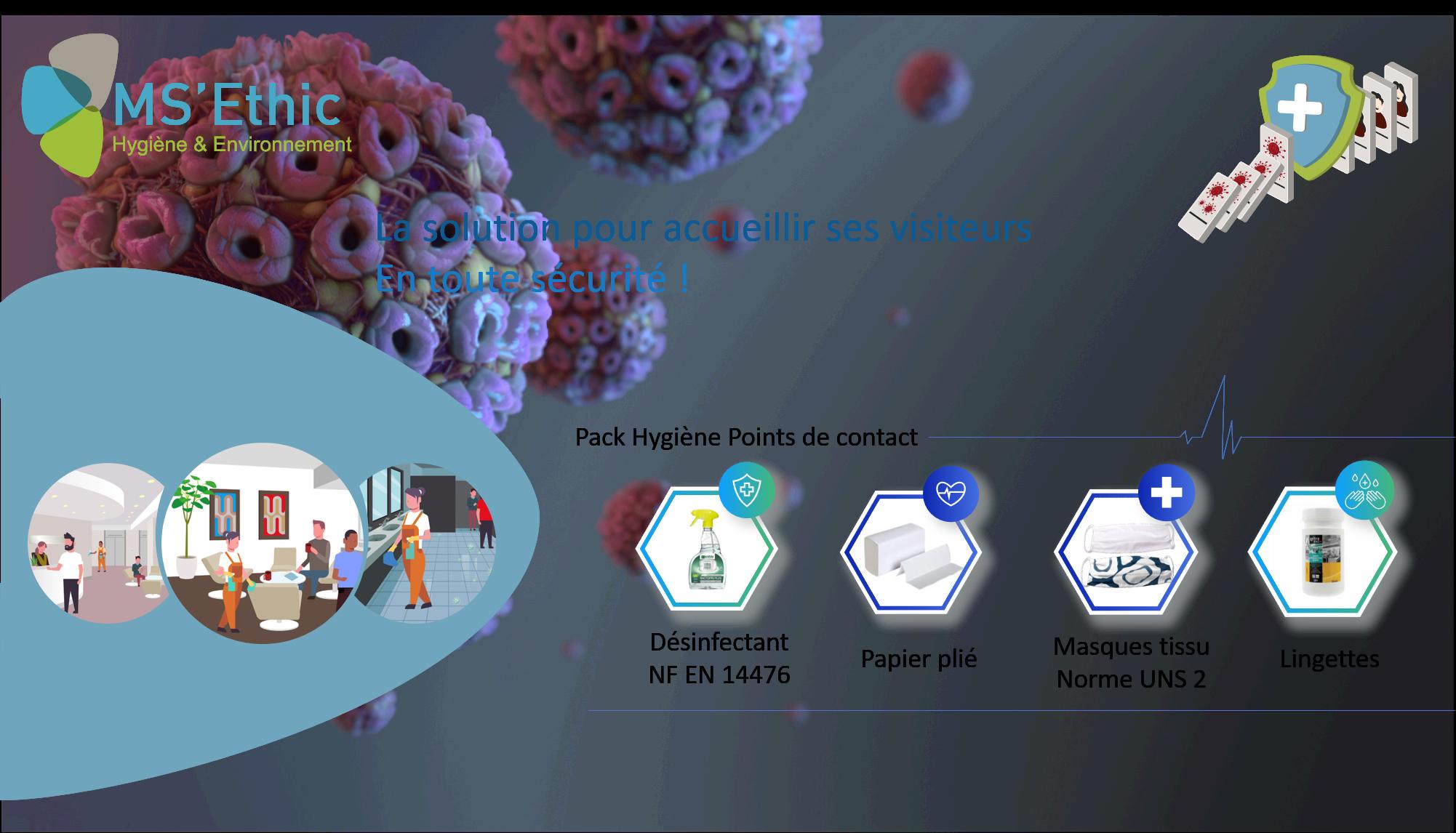 Pack Hygiène Points de Contact : la solution pour accueillir ses visiteurs en toute sécurité !