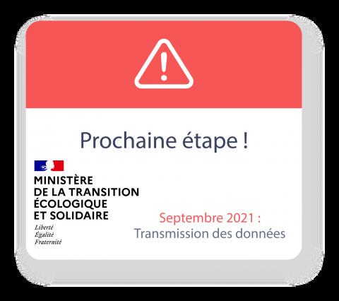 Septembre 2021 : Transmission des données
